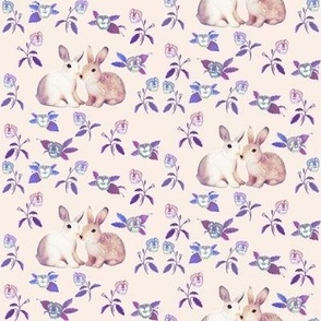 Bunnies_in_Love_Soft Pink Blue Floral