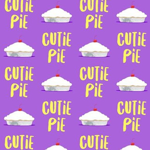 Cutie Pie - purple & yellow - LAD19