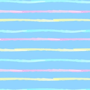 Rainbow Stripes Blue