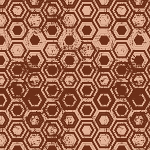 Worn hexagons | copper