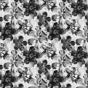 Textured Monochrome Floral