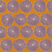 Parasol in Mustard & Purple