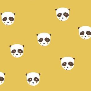 Panda bear in mustard