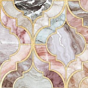 Rosy Marble Moroccan Tiles - large