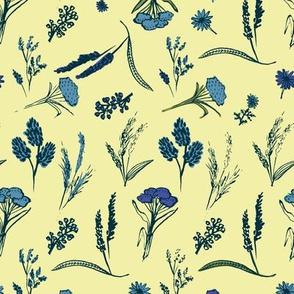 vintage meadow motifs