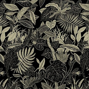 jungle plant pattern