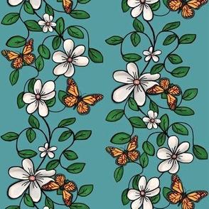 Flowers & Flutters / Vines & Butterflies