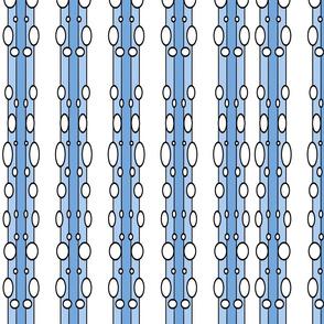 Bubbles Blue Stripe