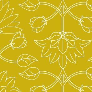 lotus line - mustard