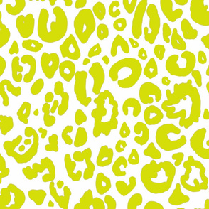 Cheetah Chic // Chartreuse on White