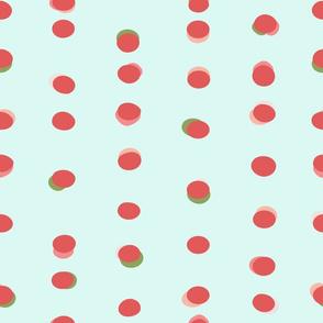 Trendy Uneven Dots Watermelon-stock