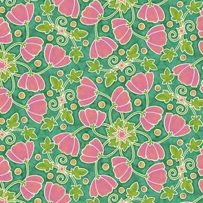 Poppy Wheels - Rose Jade