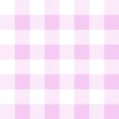 Buffalo Check Baby Pink White Plaid Style