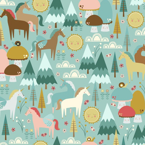 Enchanted Forest on Teal