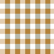 Forest Green White Yellow Check PLaid