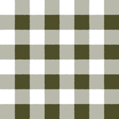 Forest Green White Check PLaid Watercolor Style