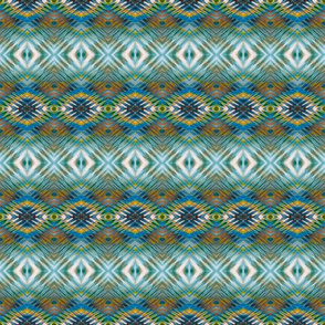 Teal Hopi Diamonds