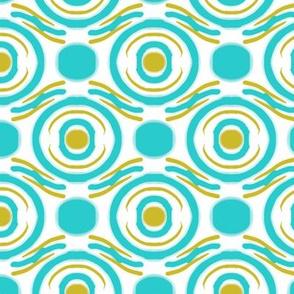 Wavy concentric circles