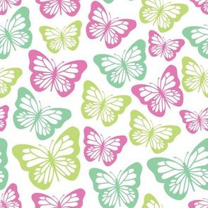 butterflies pastel print