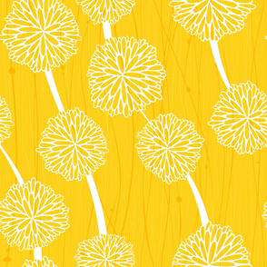 Pom Poms - Medium Yellow by Friztin
