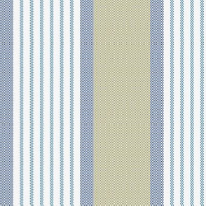 Ticking Triple Stripe Blue and Dull Olive Green