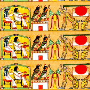 book of the dead ancient egypt egyptian goddess death hieroglyphics Ba bird harpy harpies mummy dead sun lions flowers lotus Isis Nephthys corpse stork cranes afterlife souls tribal yellow red brown papyrus scrolls funerary underworld spells couple man wo