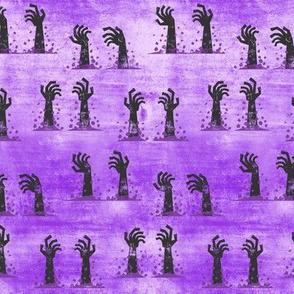 Zombie hands - halloween - purple 2 - LAD19
