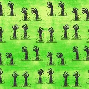 Zombie hands - halloween - green - LAD19