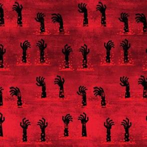 Zombie hands - halloween - red - LAD19