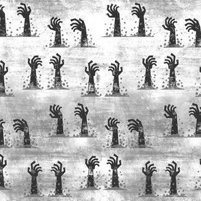 Zombie hands - halloween - grey - LAD19