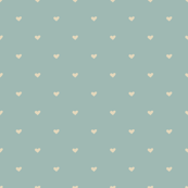 Polka Dots Heart Pattern Blue Background