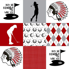 Golf//Chickasaws//Womens - Wholecloth Cheater Quilt