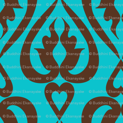 Ethnic_hearts_-_teal_and_brown_preview