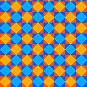 Blue and Orange Check