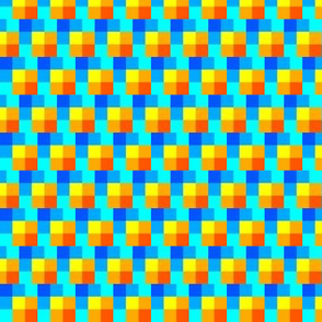 Orange Squares with Blue Shadows