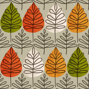 Fall Leaves - large scale