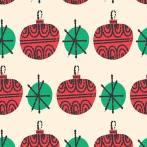 Mid Century Christmas - baubles & dots