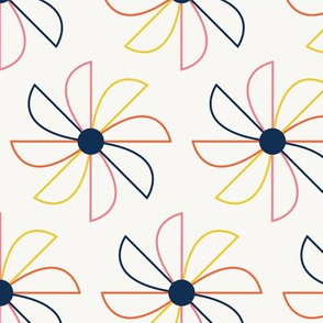Pretty pinwheels- outline