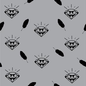 diamond_pattern_vector_grey