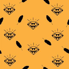 diamond_pattern_vector_yellow