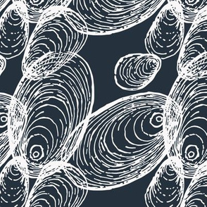Abstraction of Shells in Light and Dark Gray
