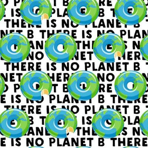 there is no planet b - donuts - earth - black - LAD19