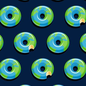 planet earth donuts - earth - navy - LAD19