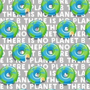 there is no planet b - donuts - earth - grey - LAD19
