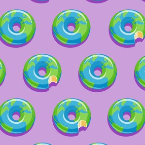 planet earth donuts - earth - purple - LAD19