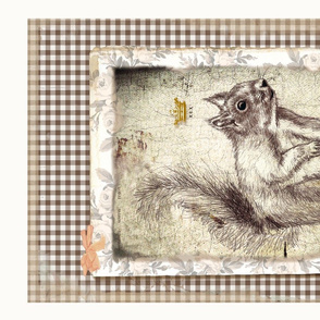 Squirrel King tea towel