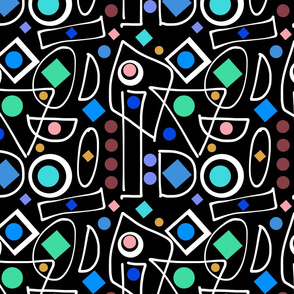 I Do Abstract - black inverse, continuous