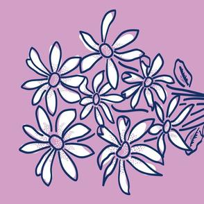 Dazzlin' Daisies Bouquet Tea Towel