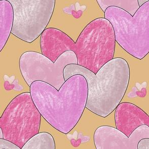 Sweethearts on yellow