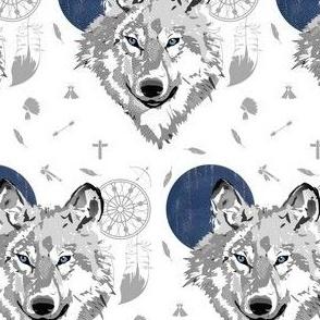 "4"" Boys Boho Wolf"
